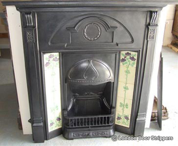 fireplace after restoration
